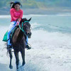 Bali beach horse riding east coast Tour