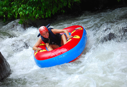 Bali river tubing near Ubud is a fun safe water adventure to include in an Ubud tour