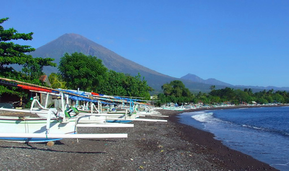 things to do in Bali - Amed, once serene fishing and salt harvesting village, now popular for its stunning views of Mount Agung and access to great diving