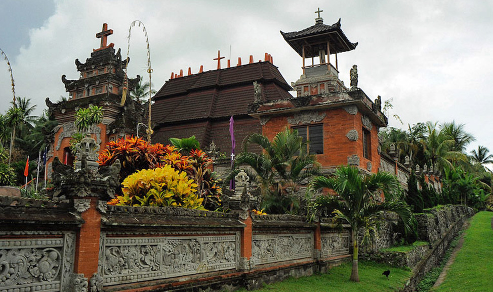 things to do in Bali - West Bali, Blingsari Village a unique cultural sight in Bali, being as one of two wholly Christian communiies in Bali's west.