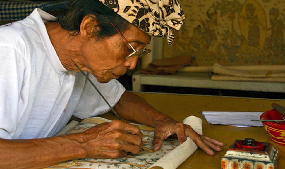 things to do in Bali - Kamasan, in East Bali, home of the ancient traditional Balinese art style.