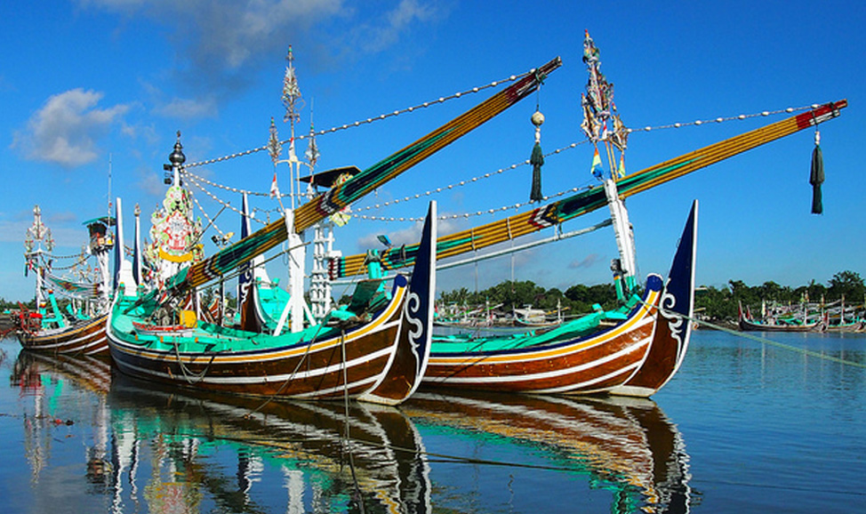things to do in Bali - West Bali, Pengambengan Village, worth a stop for viewing the array of colourful, traditional fishing boats plying their trade.