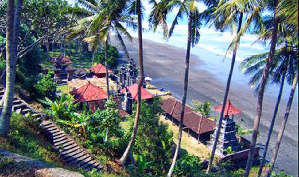 things to do in Bali - West Bali, Rambut Siwi Temple, perched atop a cliff has magnificent ocean views and is a great place to explore or stop for a picnic.