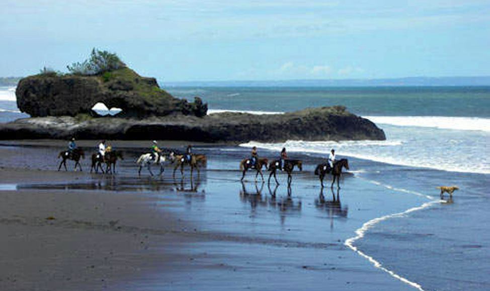 things to do in Bali - Tabanan horse riding is a fun way to take in the Tabanan countryside and explore the beaches around Tanah Lot.