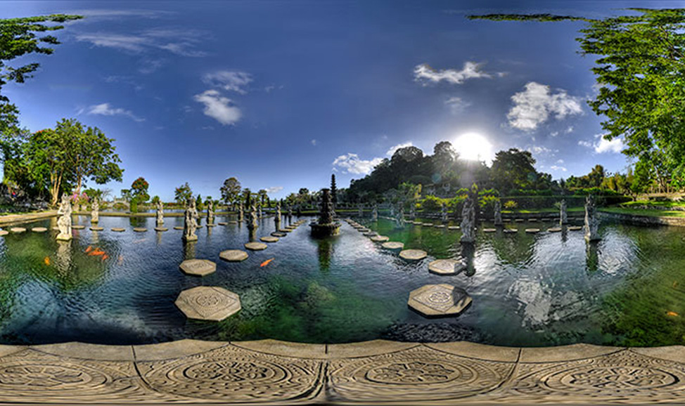 things to do in Bali - Tirta Gangga Water Palace, a stunning maze of pools & fountains in lush gardens in east Bali.