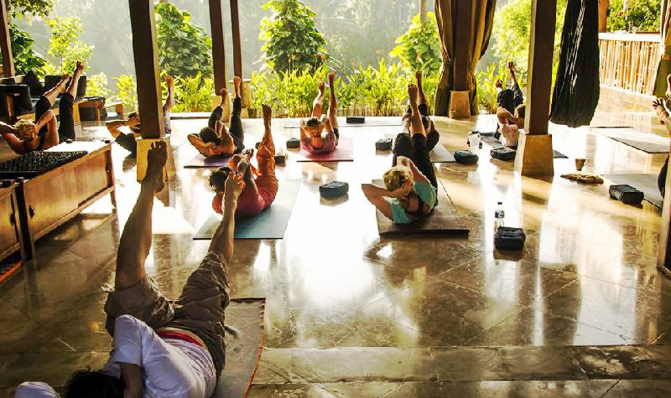things to do in Bali - Ubud yoga classes, a great way to de-stress & rejuvenate after a hectic tour schedule - experience tranquility & harmony with nature