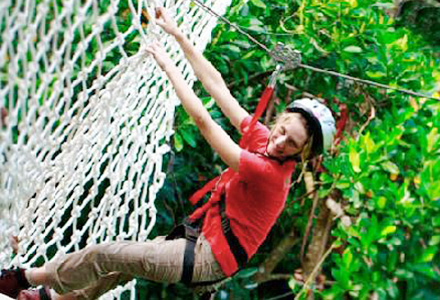 Bali Zoo tree top adventure