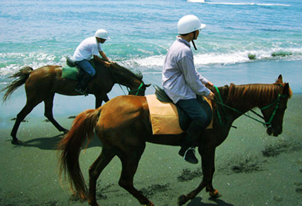 Bali beach horse riding east coast Bali Saba Beach