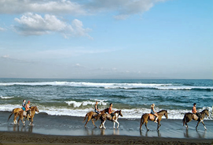 Bali East Coast Tour snorkelling beach horse riding