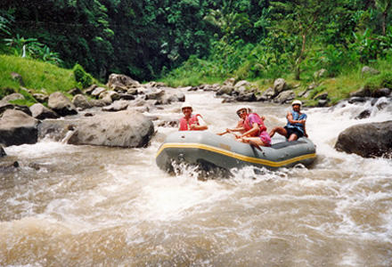 Bali white water rafting Ayung River near Ubud